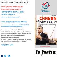 """Conférence """"Chaban le bâtisseur"""""""